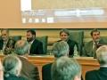 Predsednícky stôl - zľava: Igor Petrík, Marian Janák, Juraj Lapin, Igor Broska