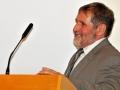 Riaditeľ GlÚ SAV - Igor Broska pri prednáške o histórii, prítomnosti a budúcnosti Geologického ústavu SAV
