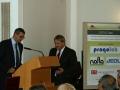 Zástupca riaditeľa GlÚ SAV - Ján Madarás uvádza príhovor člena Predsedníctva SAV, podpredsedu pre I. oddelenie vied - Juraja Lapina