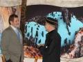 Riaditeľ Geologického ústavu SAV  - RNDr. Igor Broska, DrSc. a doc. RNDr. Stanislav Jeleň, CSc. pri paneloch výstavy