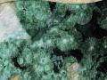 Tabula_13 Lúčovité agregáty malachitu na kremeni, Ľubietová-Podlipa